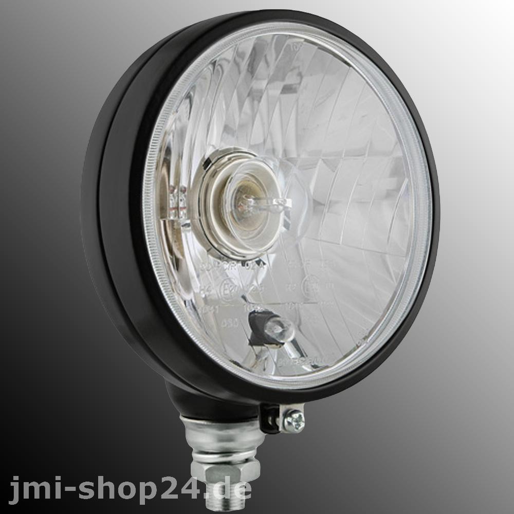 traktor scheinwerfer h4 r2 12v 24v klarglasoptik oldtimer. Black Bedroom Furniture Sets. Home Design Ideas