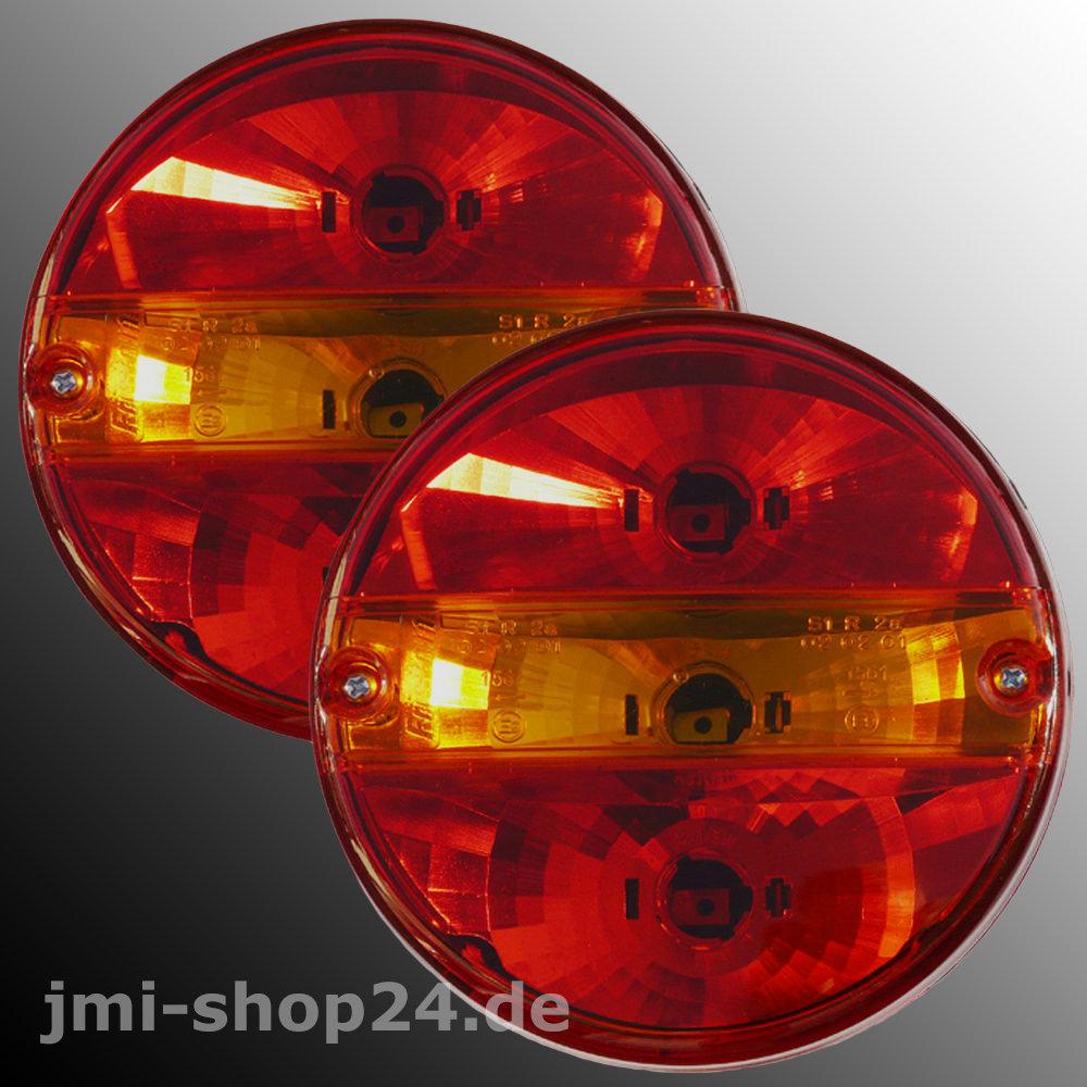 R/ückleuchte RUND mit Blinklicht Traktor Schlepper LKW PKW Anh/änger R/ücklicht