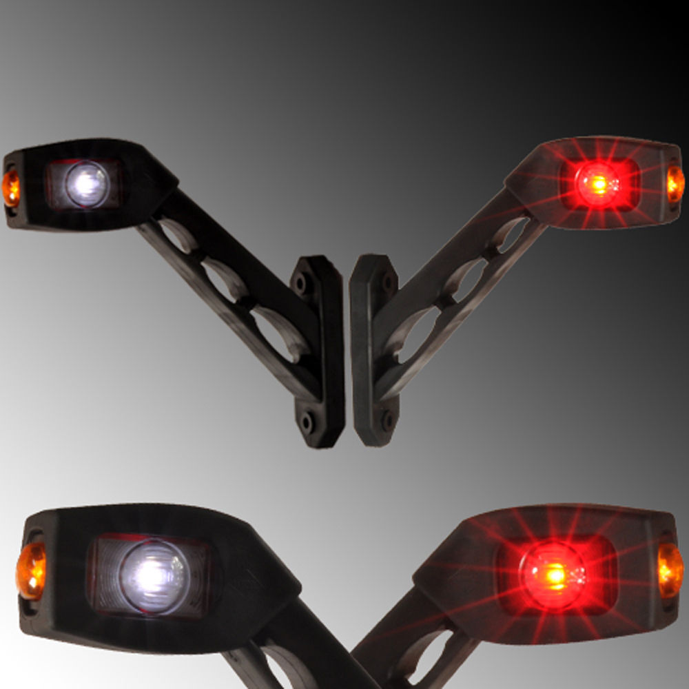 2x 24V Rot LED Rückfahrleuchte Wohnwagen Begrenzungsleuchten Anhänger 30cm Kabel