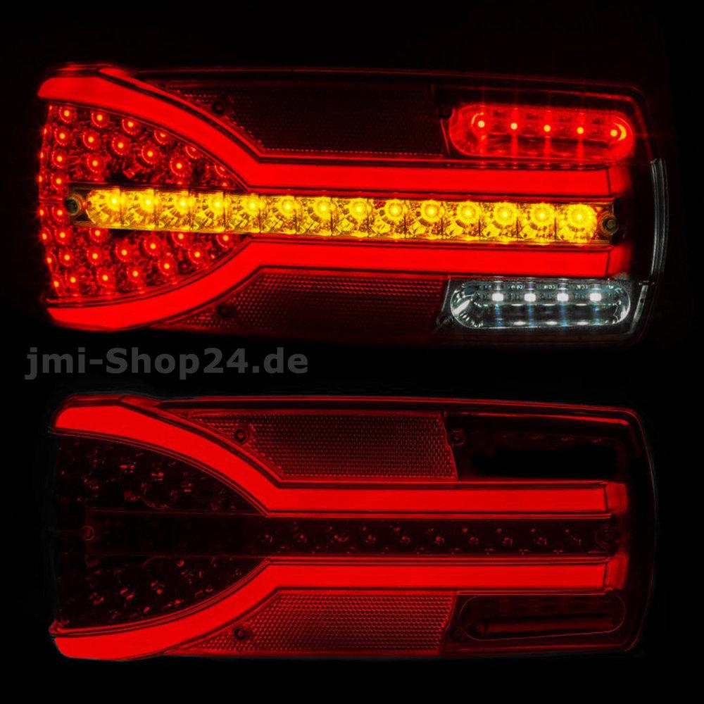 Good LED Rückleuchte Anhänger LKW 12V 24V Dynamischer Blinker 166 LED NEON  Rücklicht