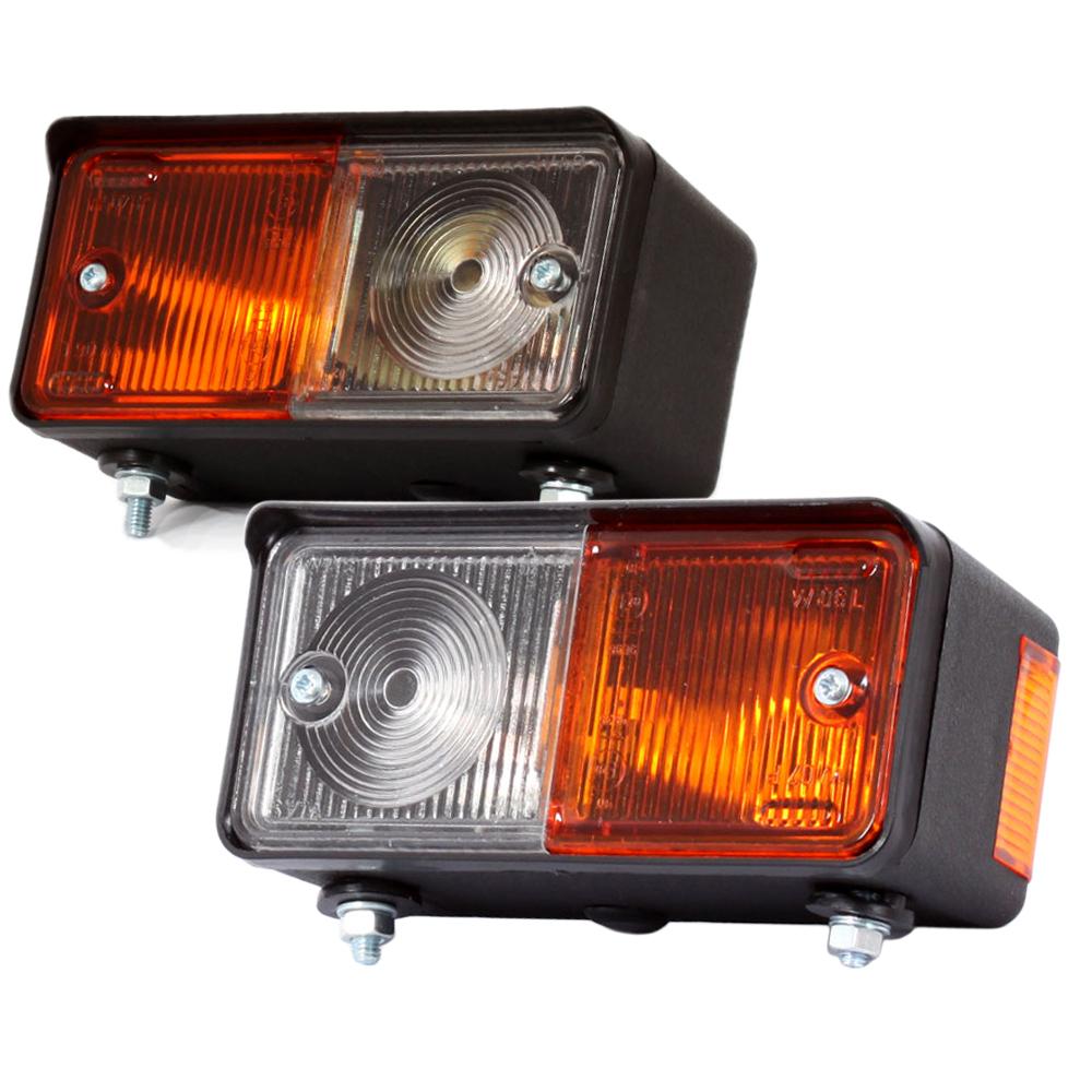 2x blinkleuchte blinker standlicht 12v 24v traktor schlepper. Black Bedroom Furniture Sets. Home Design Ideas