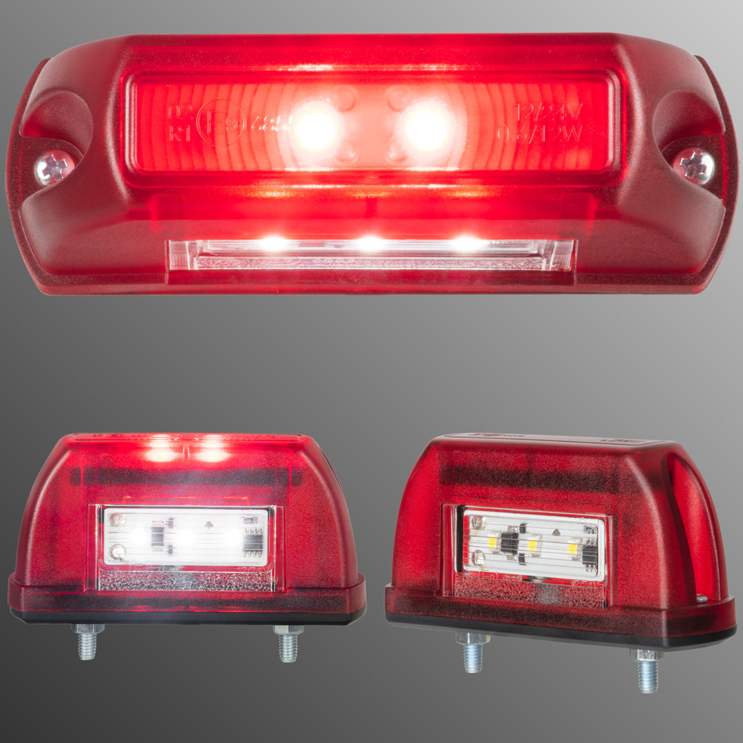 2x LED Blink-Positionsleuchte E9 12V 24V Trailer LKW PKW Anhänger Traktor Bagger